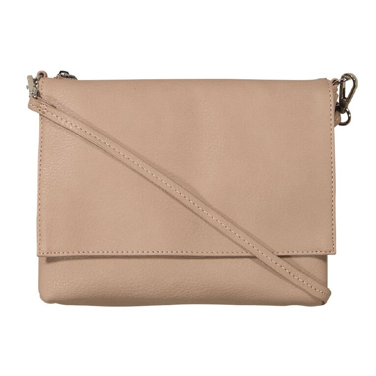 H&H Crossbody Top Zip Handbag, Pink, hi-res