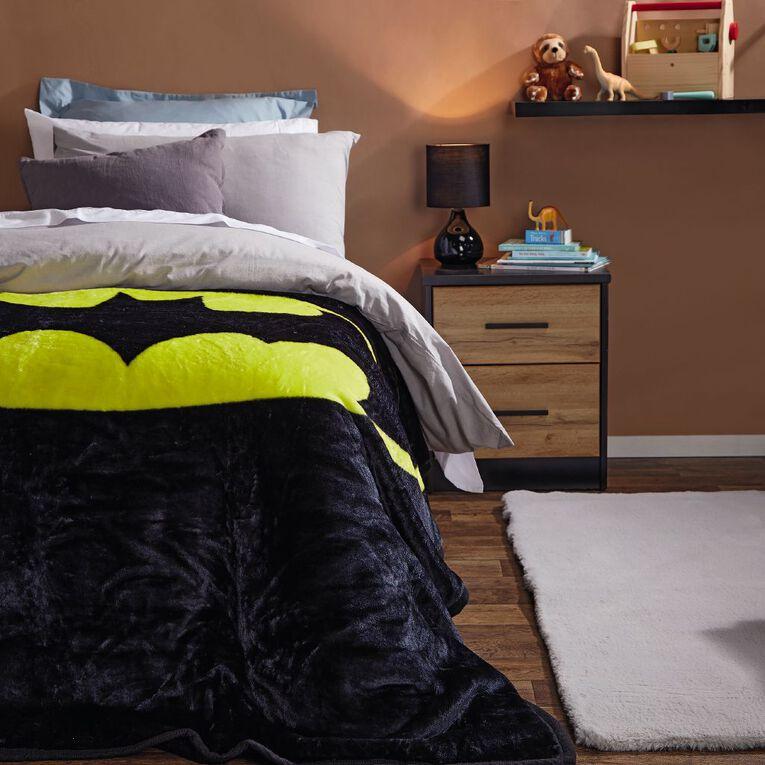 Batman Blanket Mink Printed Multi-Coloured Single, , hi-res