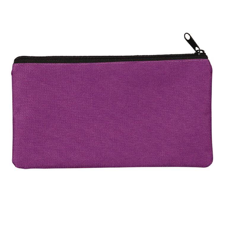 WS Pencil Case Flat Basic Purple, , hi-res