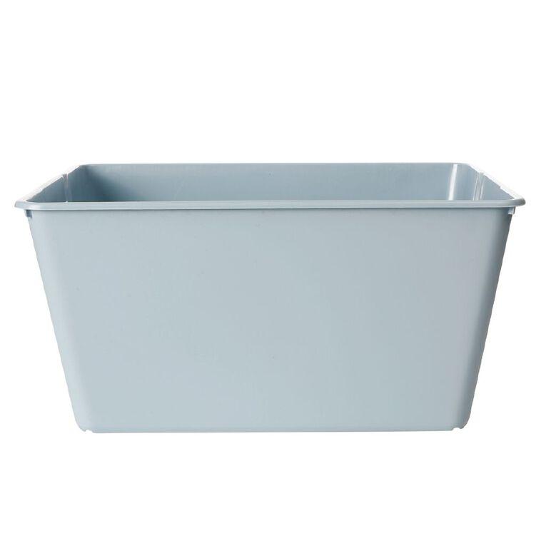 Living & Co Stackable Tub Rectangle Blue 4.5L, , hi-res