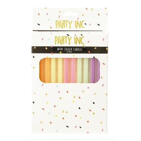 Party Inc Neon Colour Candles 10 Pack