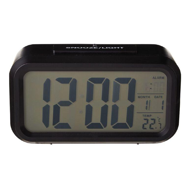 Living & Co Digital Alarm Clock 13.3 x 7cm Black, , hi-res