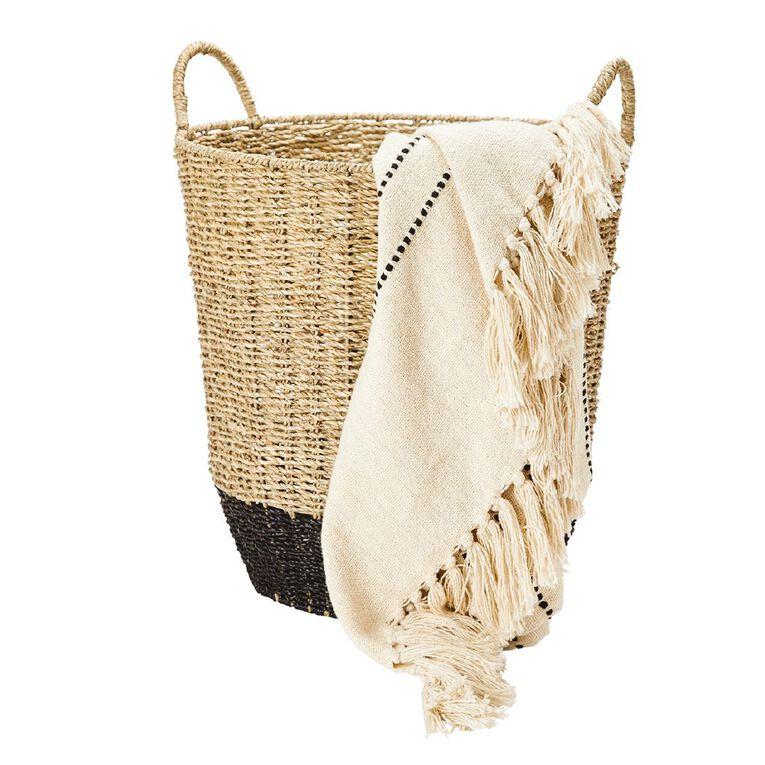 Living & Co Coloured Seagrass Basket Multi-Coloured, , hi-res