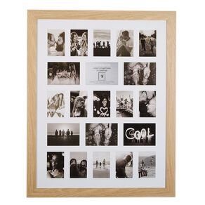 Living & Co Large Collage Frame 21 Opening Natural