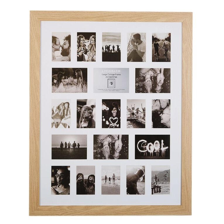 Living & Co Large Collage Frame 21 Opening Natural, , hi-res