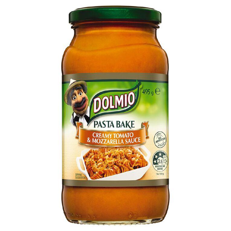 Dolmio Pasta Bake Pasta Sauce Creamy Tomato & Mozzarella Jar 490g, , hi-res