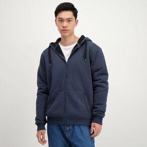 H&H Men's Sherpa Lined Zip-Thru Hooded Sweat