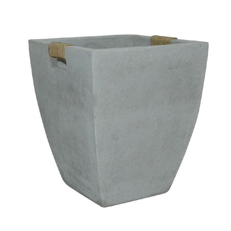 Kiwi Garden Light Cement Rope Pot Grey 20cm, , hi-res
