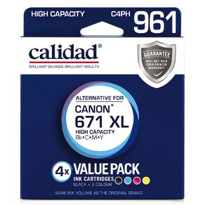 Calidad Canon CLI 671XL Blk Cyn Mag Yel 4 Pack