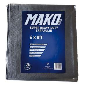 Mako Tarpaulin Silver/Black 205gsm 6ft x 8ft