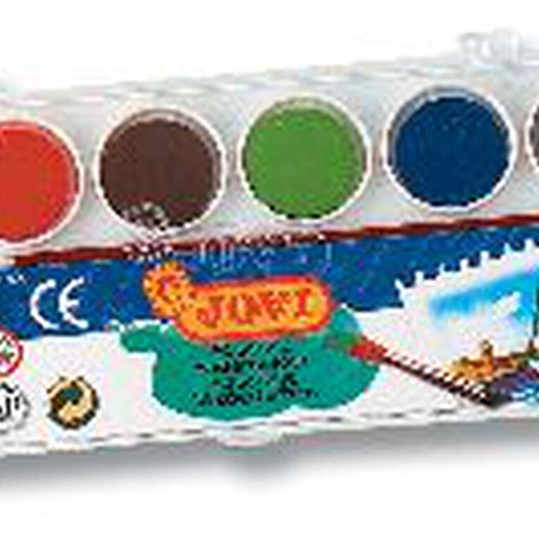 Jovi Watercolours 6 Pack Multi-Coloured, , hi-res