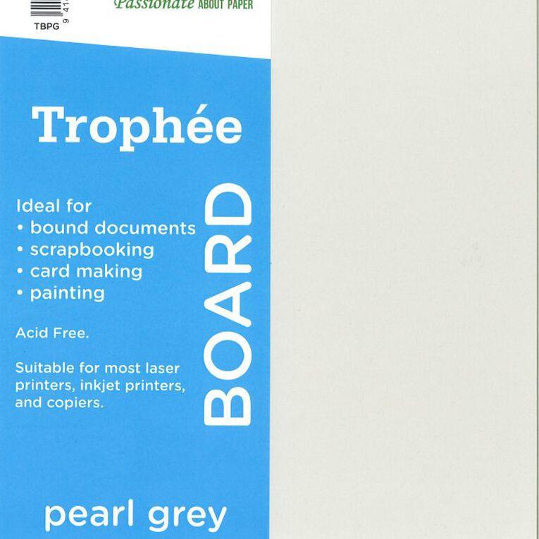 Trophee Board 210gsm 12 Pack Pearl Grey A4, , hi-res