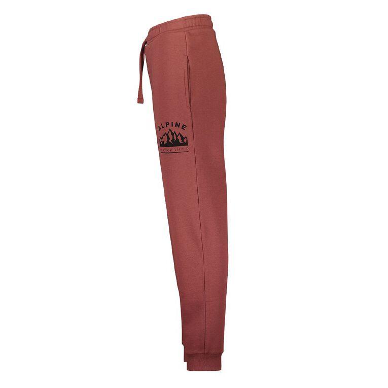 Young Original Print Leg Trackpants, Red Dark, hi-res