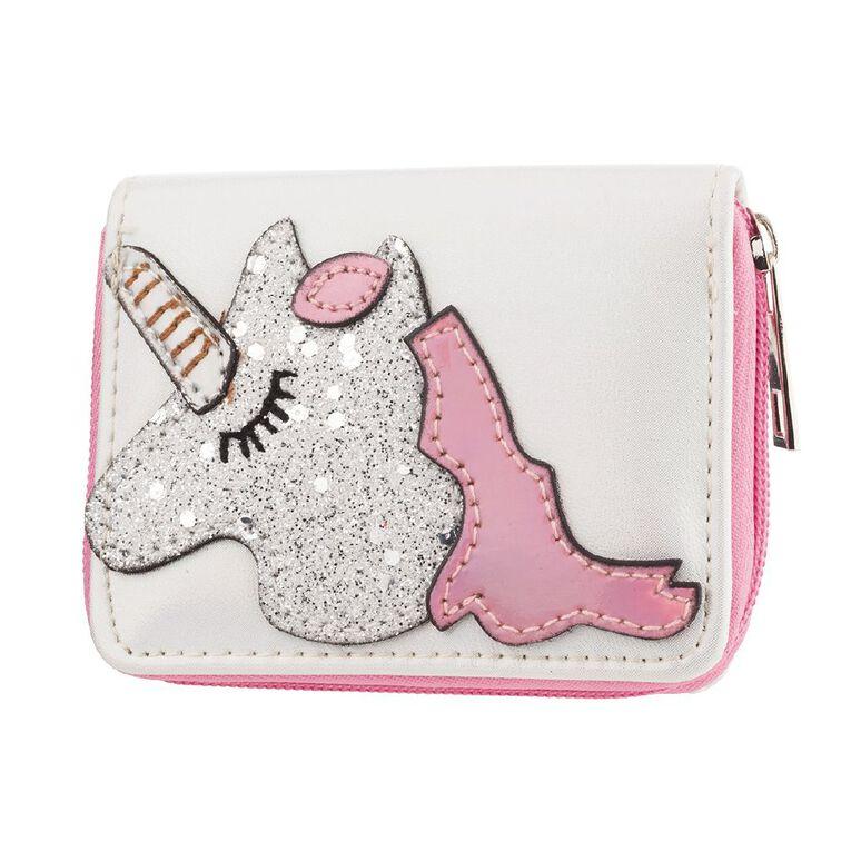 Kids Unicorn Wallet, White, hi-res
