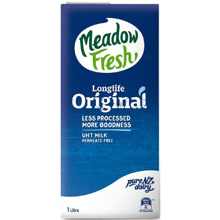 Meadow Fresh Original Homogenised UHT 1L, , hi-res