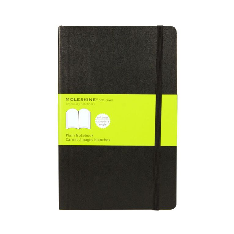 Moleskine Classic Soft Cover Large Notebook Unlined Black, , hi-res
