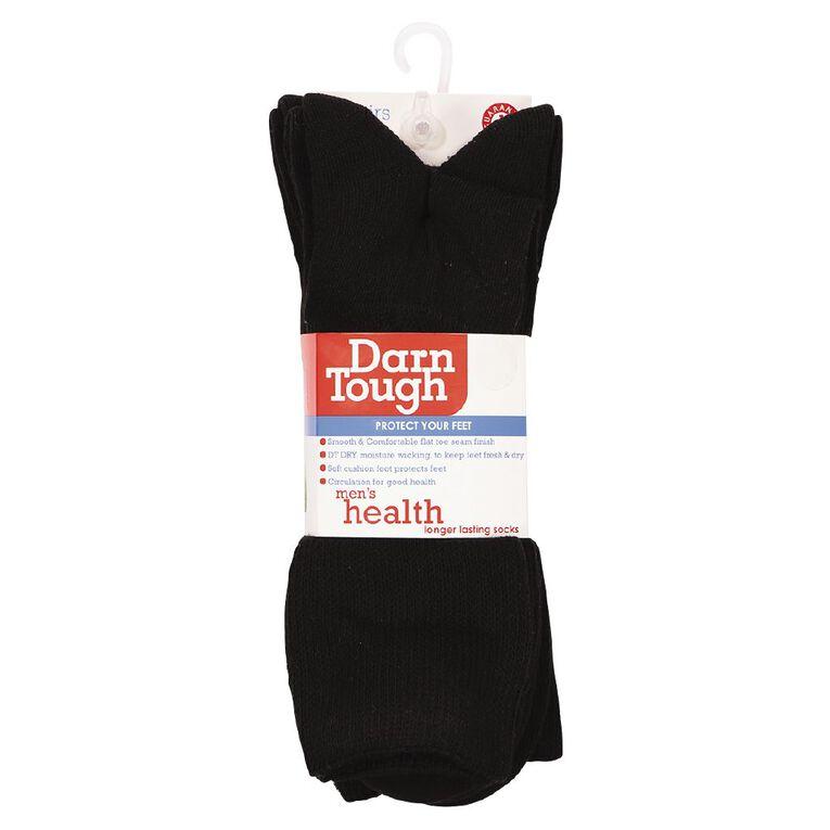 Darn Tough Men's Comfort Crew Health Socks 3 Pack, Black, hi-res