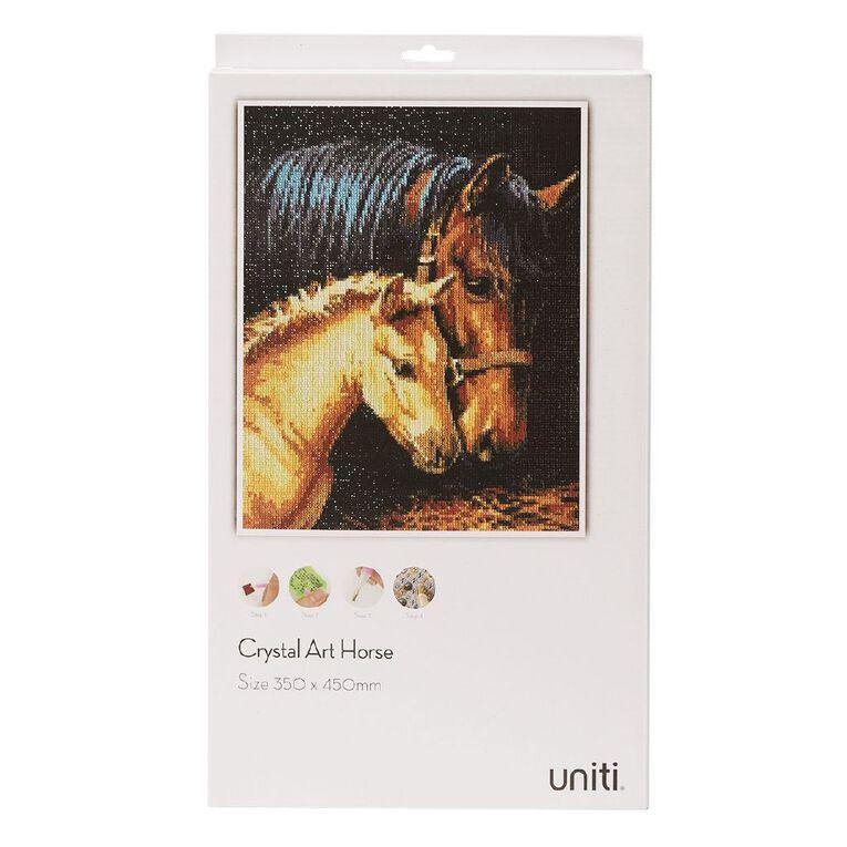 Uniti Crystal Art 35 x 45cm Horse and Foal, , hi-res