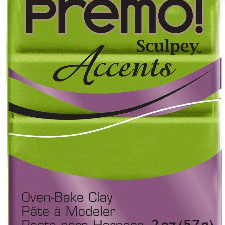 Sculpey Premo Accent Clay 57g Bright Pearl Green, , hi-res
