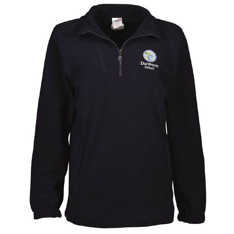 Schooltex Duntroon School Polar Fleece Top with Embroidery, Navy, hi-res