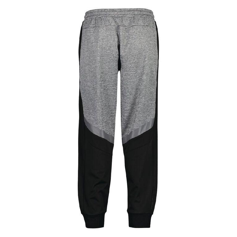 Active Intent Men's Performance Colour Block Trackpants, Grey Marle, hi-res
