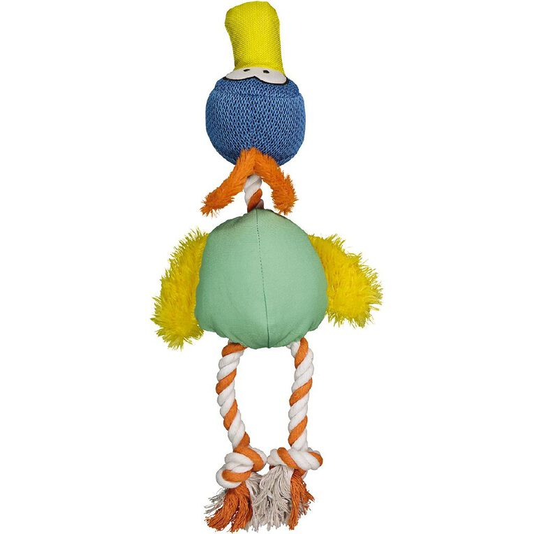 Petzone Duck Rope Toy With Squeaker, , hi-res
