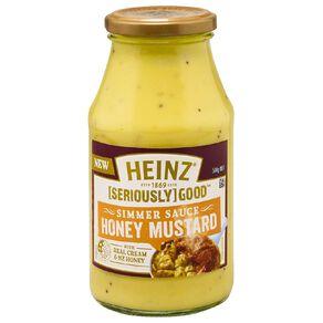 Heinz Seriously Good Honey & Mustard Simmer Sauce 500g