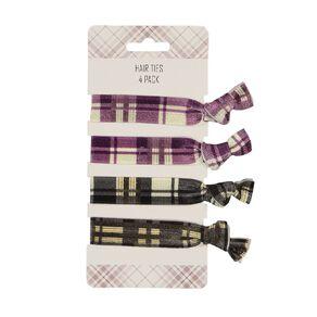 Fabric Hair Ties 4 Pack