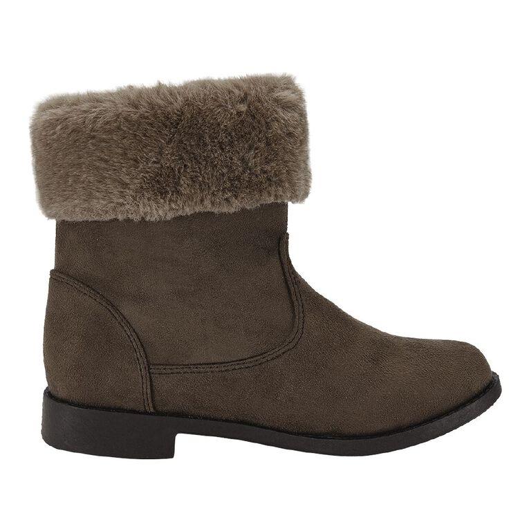 Young Original Kids' Faux Fur Boots, Brown, hi-res