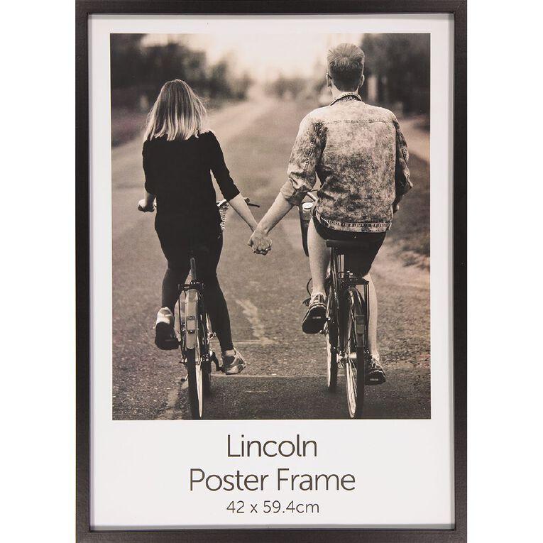 Uniti Box Poster Frame Black Black A2, Black, hi-res