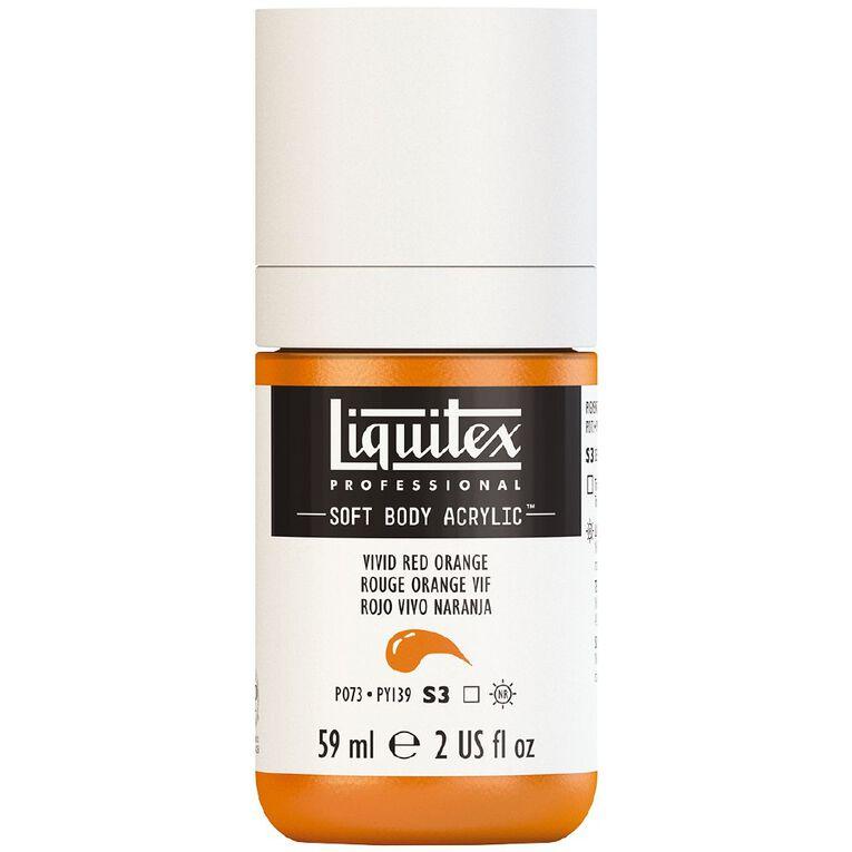 Liquitex Soft Body Acrylic 59ml Vivid Red Orange S3, , hi-res