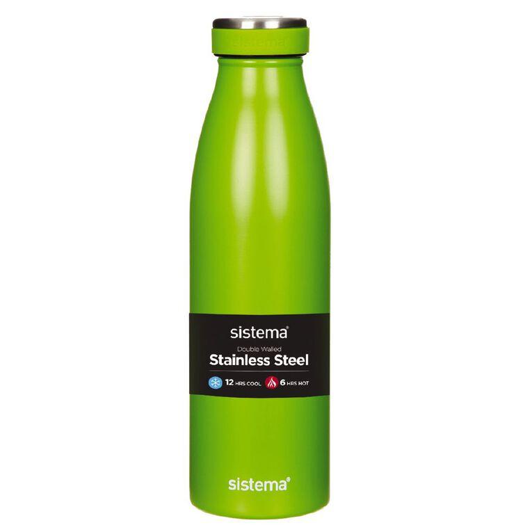 Sistema Stainless Steel Drink Bottle Assorted 500ml, , hi-res