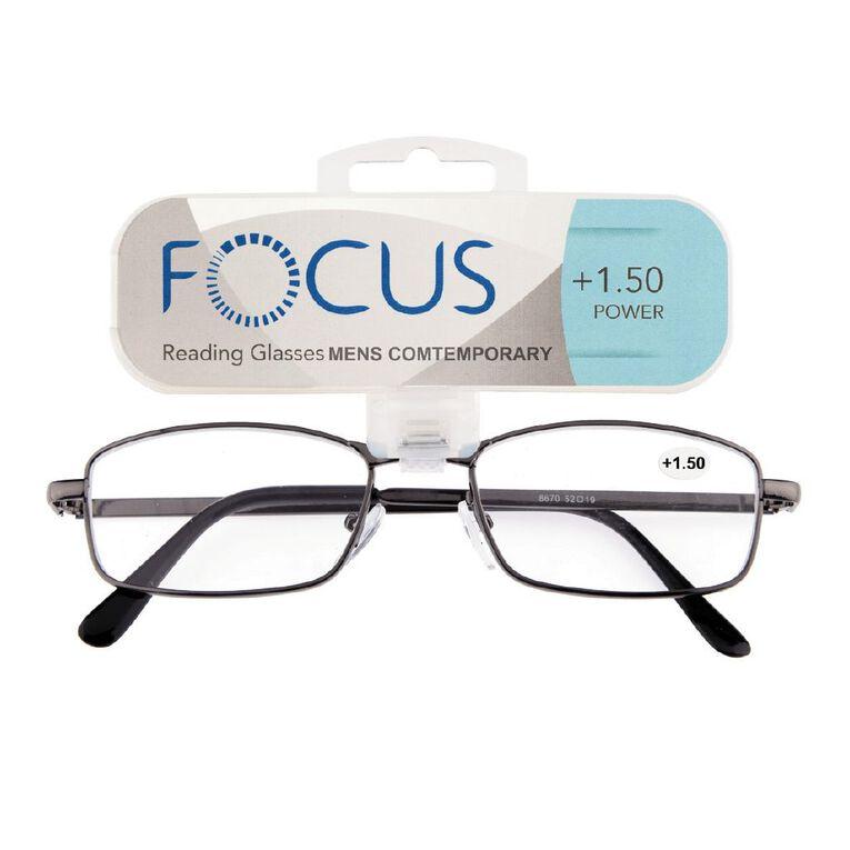 Focus Reading Glasses Men's Contemporary 1.50, , hi-res