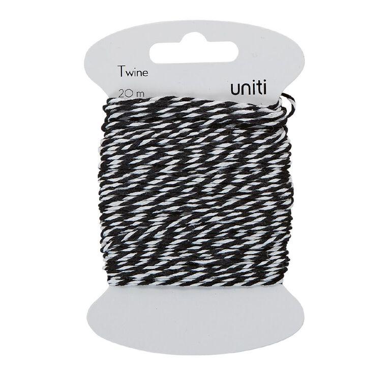 Uniti Twine Black/White 20m, , hi-res