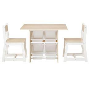 Living & Co Pandi Kids Table & Chairs Set