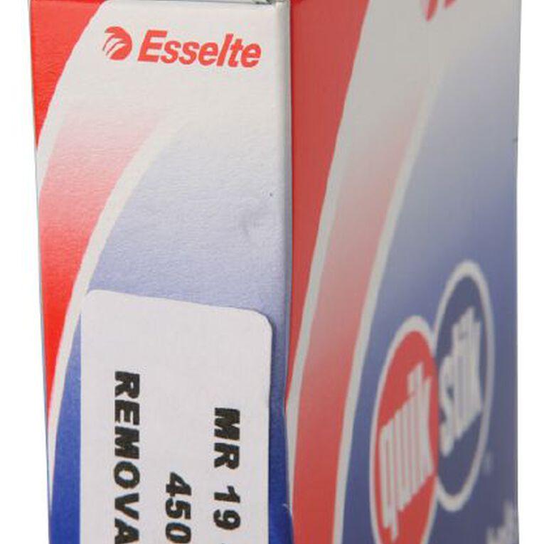 Quik Stik Labels Mr1940 19mm x 40mm 450 Pack White, , hi-res
