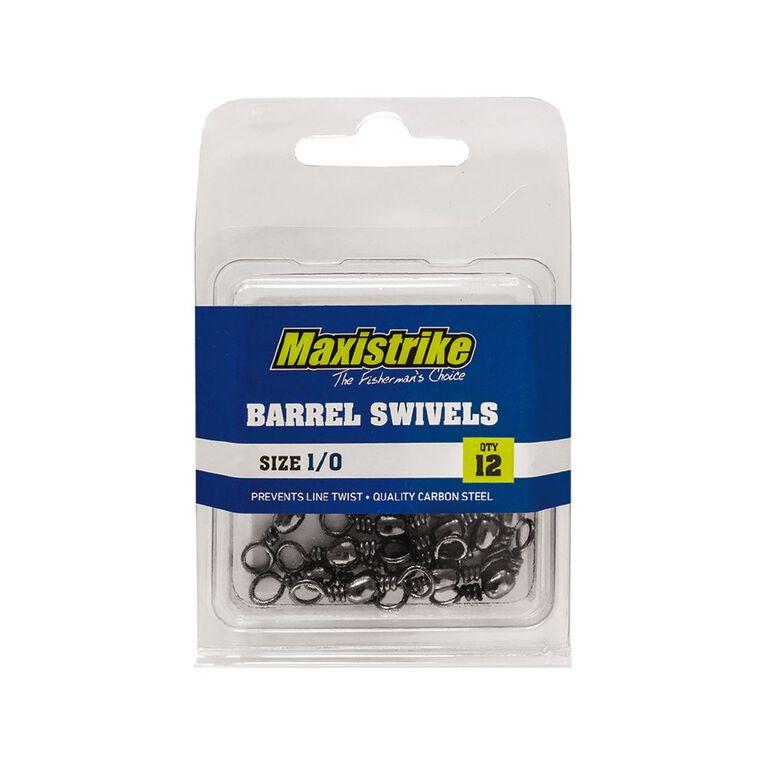 Maxistrike 1/0 Barrel Swivels 12 Pack, , hi-res