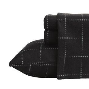Living & Co Sheet Set Polar Flannel Printed The Grind Black