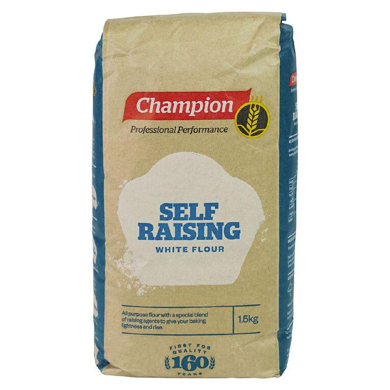 Champion Self Raising Flour 1.5kg, , hi-res