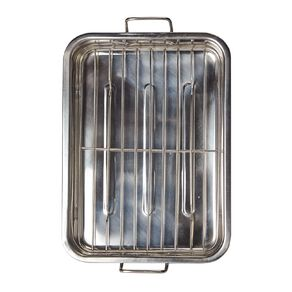 Living & Co Stainless Steel Roaster with Grill Large