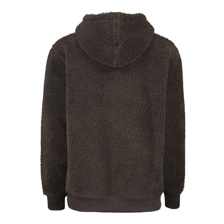 Garage Men's Sherpa Lined Hooded Sweatshirt, Green Dark, hi-res