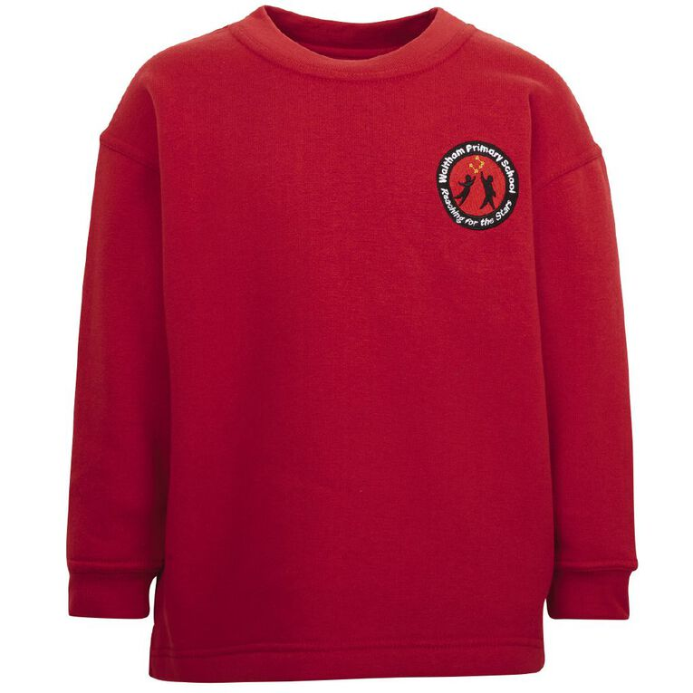 Schooltex Waltham Crew Neck Tunic with Embroidery, Red, hi-res