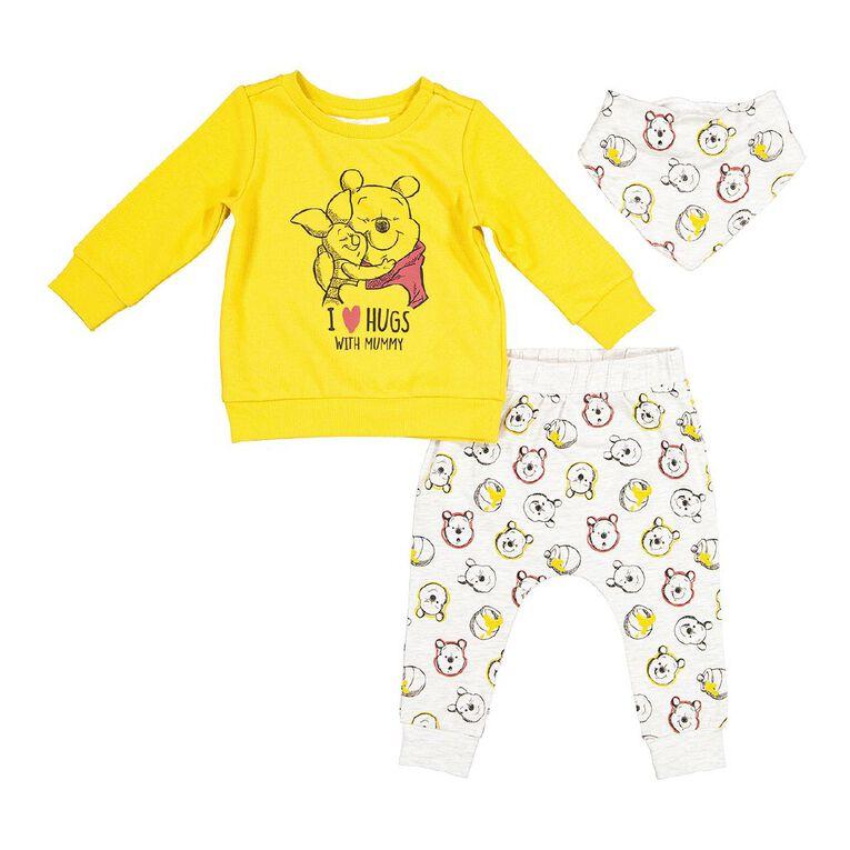 Winnie the Pooh 3 Piece Set, Yellow Mid, hi-res