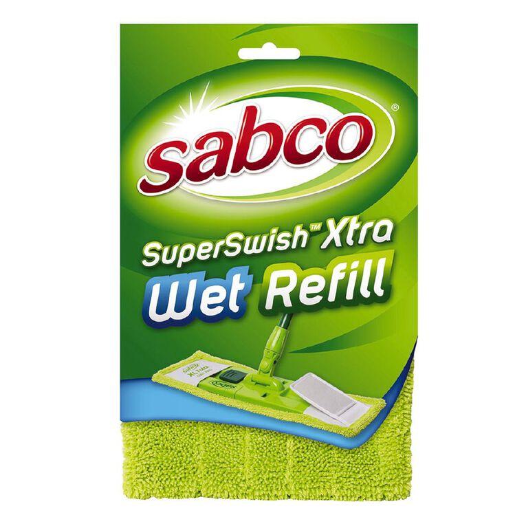 Sabco Super Swish Xtra Mop Wet Refill Green, , hi-res