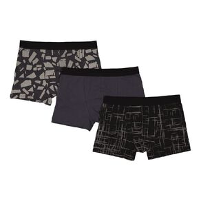 H&H Printed Fitted Trunks 3 Pack