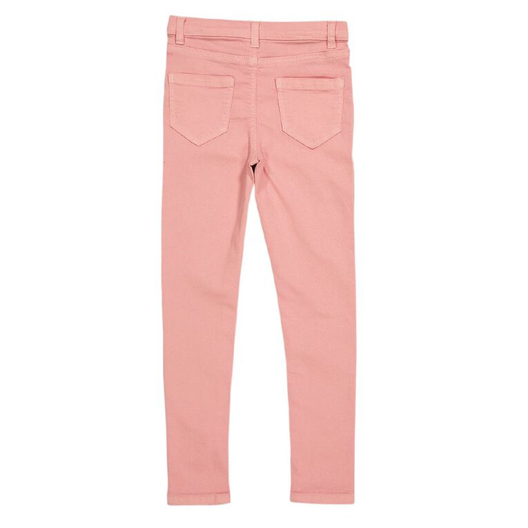Young Original Girls' Stretch Skinny Jeans, Pink Light, hi-res image number null