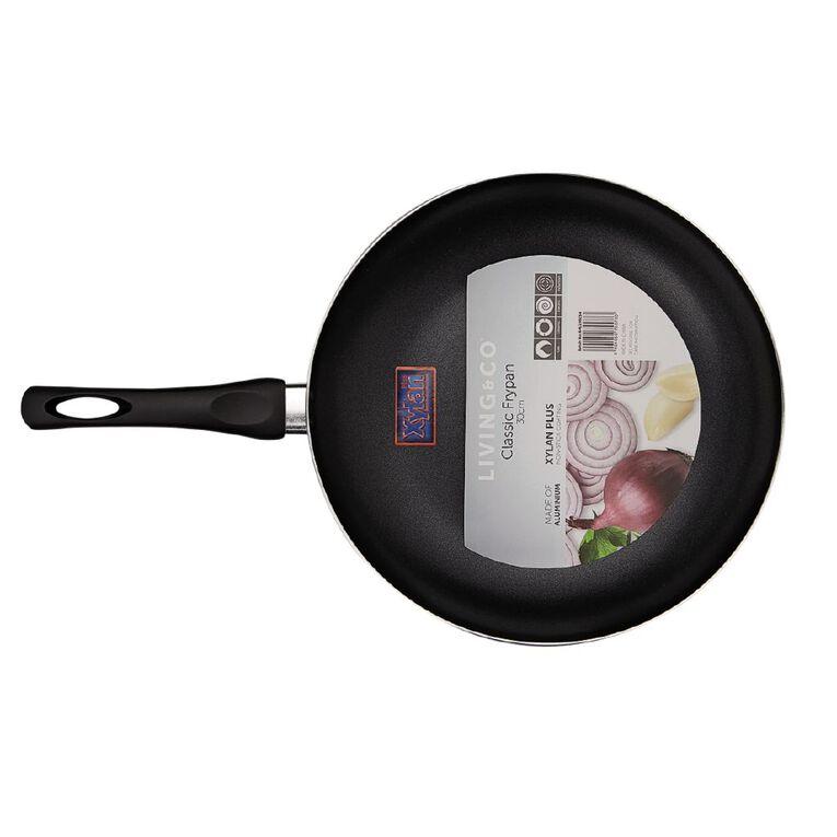 Living & Co Classic Frypan Black 30cm, , hi-res