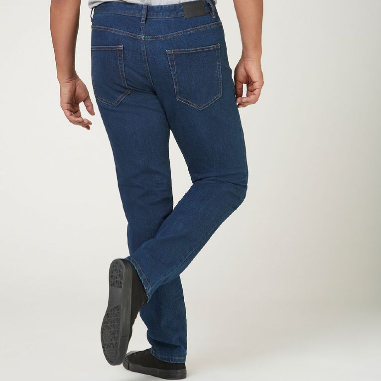 H&H Men's Straight Jeans, Denim Mid, hi-res