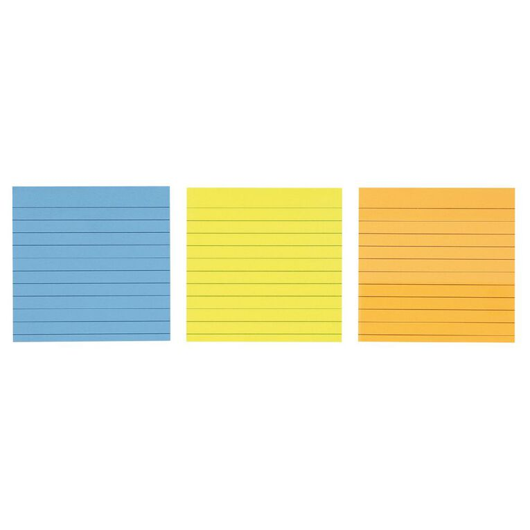 Impact Sticky Notes Lined 101mm x 101mm 70 Sheets 3 Pack, , hi-res