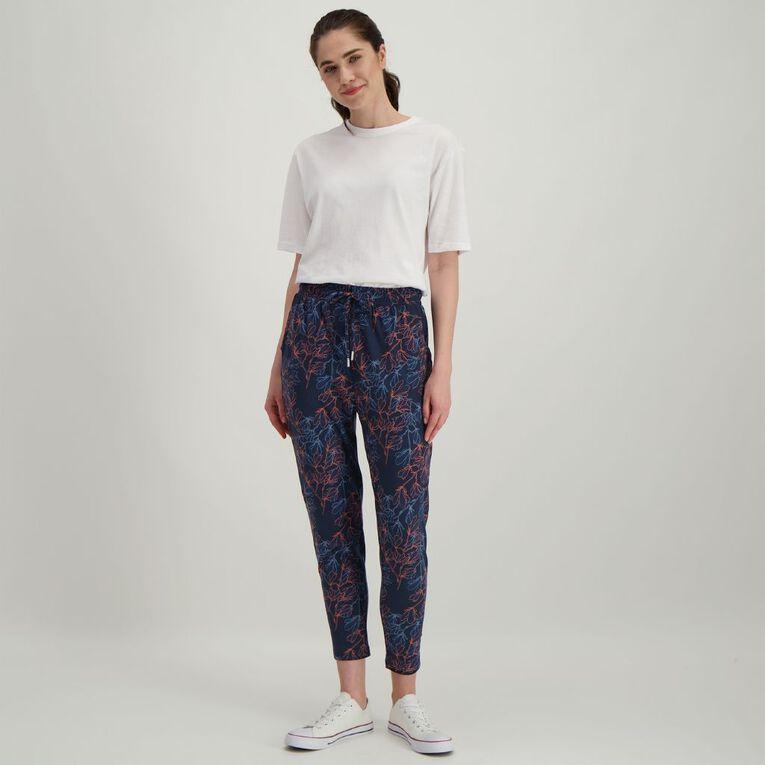 H&H Women's Stretch Harem Pants, Navy, hi-res